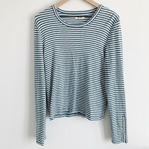 Madewell longsleeve knit striped top